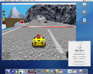 SuperTuxKart Screenshot Mac OS X Panther