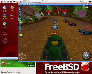 SuperTuxKart Screenshot FreeBSD PC-BSD