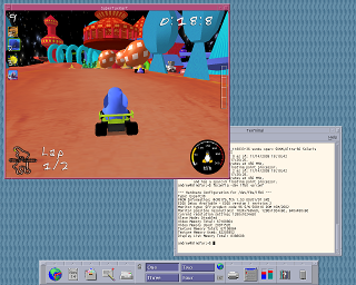 SuperTuxKart Screenshot Solaris SPARC